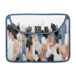 Copper and Blue Brushstrokes Abstract Design Sleeves For MacBook Pro