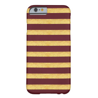 Copper and Burgundy Striped Phone Case
