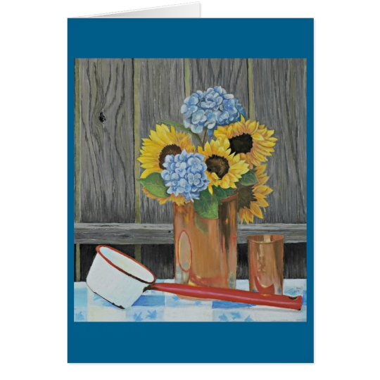 Copper and Flowers Greeting Card