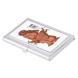 Copper and gold alloy accomplishing pulling out business card holder