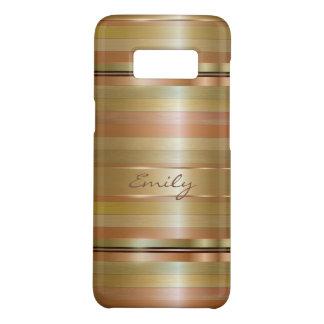 Copper And Gold Stripes Case-Mate Samsung Galaxy S8 Case