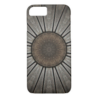 Copper and Pewter Wood-Look Mandala Kaleidoscope Case-Mate iPhone Case