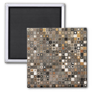 Copper and Stone Mosaic Magnet