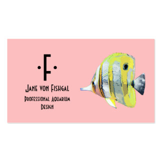 Copper-banded Butterfly Fish Business Cards