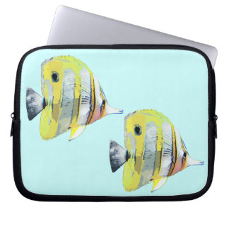 Copper-banded Butterfly Fish Computer Sleeves