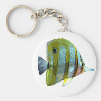 Copper-Banded Butterfly Fish Keychain