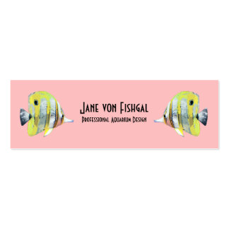 Copper-banded Butterfly Fish Mini Business Card