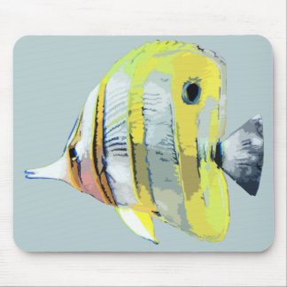 Copper-banded Butterfly Fish Mouse Pad
