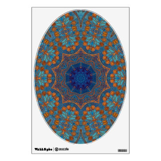Copper Blue - Art for Your Toilet Seat Wall Sticker