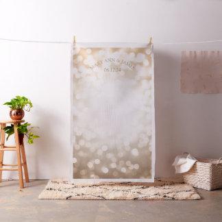 Copper Bokeh Lights Wedding Photo Backdrop Fabric