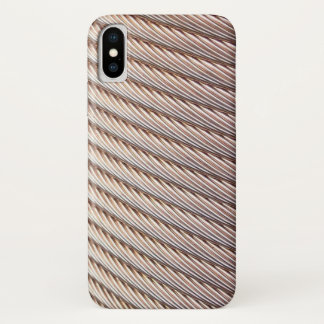 Copper Braided Cable Look iPhone X Case