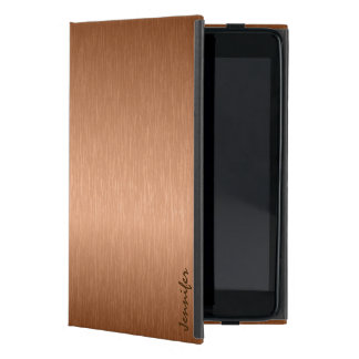 Copper Brown Metallic Brushed Aluminum Look Cover For iPad Mini