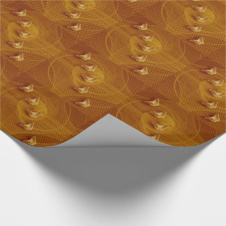 copper butterflies and fractal tiled paper