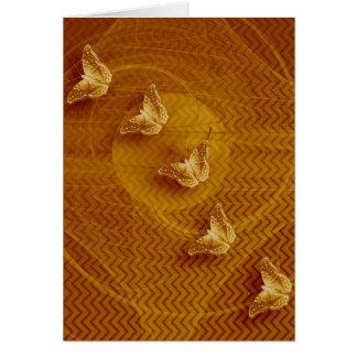 copper butterflies and fractal vertical card