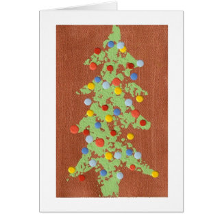 Copper Christmas Tree Card
