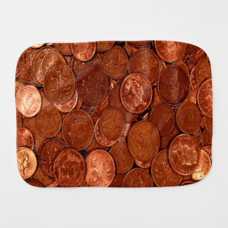 Copper Coins Burp Cloth