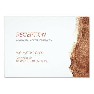 Copper color modern simple wedding reception card