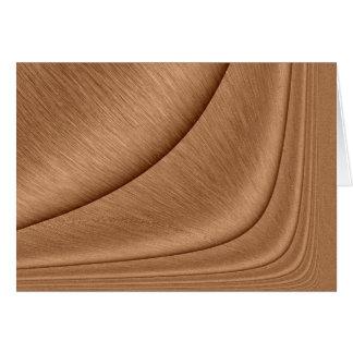 Copper Contour Card