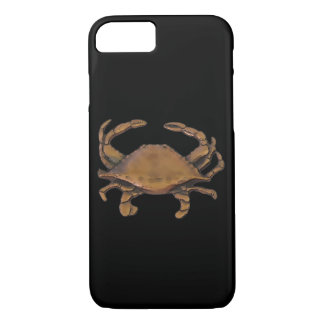 Copper crab on black iPhone 8/7 case