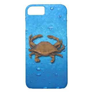 Copper Crab on blue bubbles iPhone 8/7 Case
