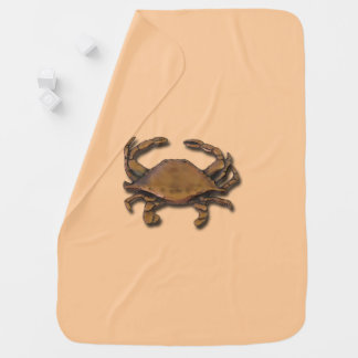 Copper Crab on Cream Baby Blanket
