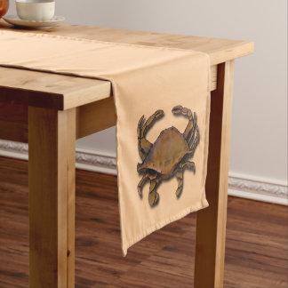 Copper Crab on Cream Short Table Runner
