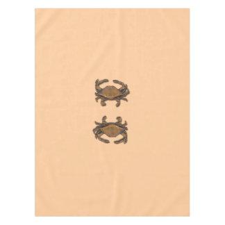 Copper Crab on Cream Tablecloth