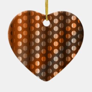 Copper Dots Ceramic Ornament