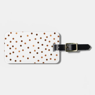 Copper Dots Pattern Bag Tag