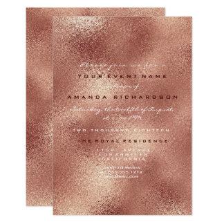 Copper Glass Peach Rose Gold Minimal Bridal  16th Card