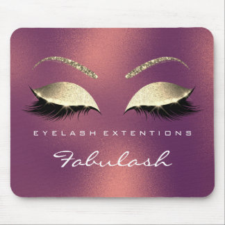 Copper Gold Glitter Branding Beauty Lashes Cali Mouse Pad