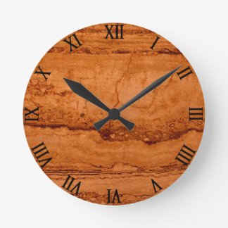 Copper Granite Round Clock