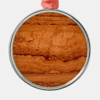 Copper Granite Silver-Colored Round Ornament