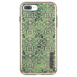 Copper Green Sea Weed Distressed Damask Patina Incipio DualPro Shine iPhone 7 Plus Case