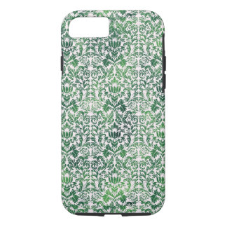 Copper Green Sea Weed Distressed Damask Patina iPhone 7 Case