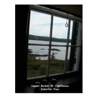 Copper Harbor MI Lighthouse - Interior View Postcard