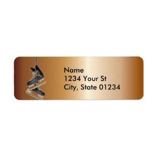 Copper Hockey Skates Return Address Labels