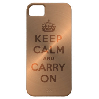 Copper Keep Calm And Carry On Case For The iPhone 5