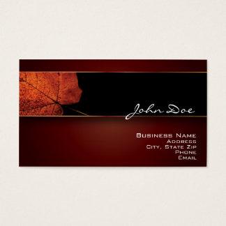 Copper Leaf Business Card