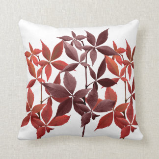 Copper Leaves brown rust nature Throw Pillow