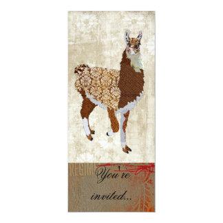 Copper Llama Ornate Invitation