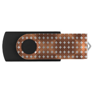 Copper-look modern dots design USB flash drive