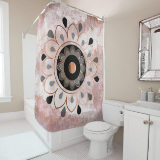 Copper Mandela Shower Curtain
