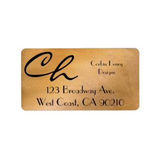 Copper Metallic Address Labels