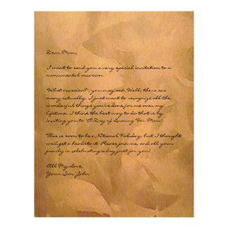 Copper Metallic Faux Finishes With Text Letterhead