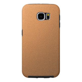 Copper Metallic Foil Effect Samsung Galaxy S6 Cases