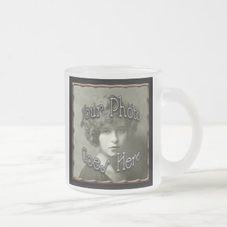Copper Metallic Frame Template 10 Oz Frosted Glass Coffee Mug