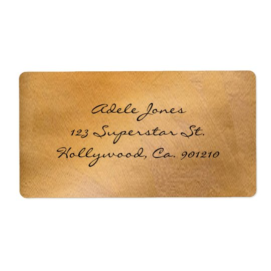 Copper Metallic Shipping Labels