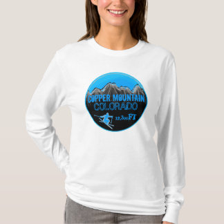 Copper Mountain Colorado blue ski art hoodie