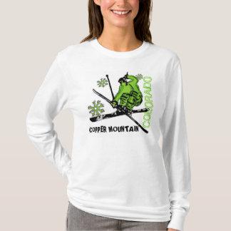 Copper Mountain Colorado green skier ladies hoodie